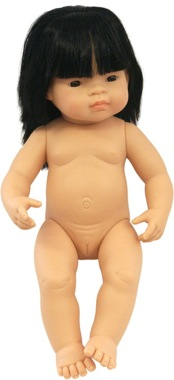 Chinese boy vinyl doll