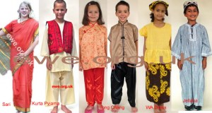 Set of 6 multicultural costumes