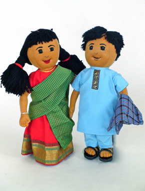 South Indian Cloth Doll